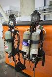 Kiev, Ukraine le 24 septembre 2015 : Équipement de pompier XII International Images stock