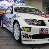 Kiev, Ukraine ; Le 23 septembre 2011 Fin de voiture de course de BMW  photos stock