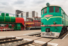KIEV, UKRAINE : Locomotive TE3 diesel dans le musée de Kiev d'historique Photos libres de droits