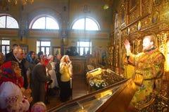 Kiev, Ukraine, March 12.2016. Metropolitan of Kiev Onufry conduc Stock Photos