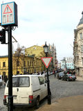 Kiev. Ukraine - March 2017: The road along the Andreevsky Descen Royalty Free Stock Image