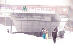 Tempête de neige à Kiev Photos stock
