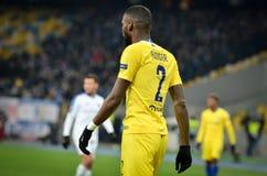 Kiev, UKRAINE - 14 mars 2019 : Antonio Rudiger pendant la correspondance d'UEFA Europa League entre Dynamo Kiev contre Chelsea (L photographie stock