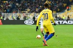 Kiev, UKRAINE - 14 mars 2019 : Callum Hudson-Odoi pendant la correspondance d'UEFA Europa League entre Dynamo Kiev contre Chelsea image stock