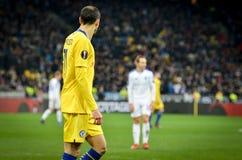 Kiev, UKRAINE - 14 mars 2019 : Davide Zappacosta pendant la correspondance d'UEFA Europa League entre Dynamo Kiev contre Chelsea  images libres de droits