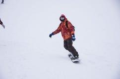 Tempête de neige à Kiev Photo stock