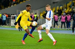 Kiev, UKRAINE - 14 mars 2019 : Joueur de Callum Hudson-Odoi pendant la correspondance d'UEFA Europa League entre Dynamo Kiev cont photo stock