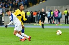 Kiev, UKRAINE - 14 mars 2019 : Joueur de Callum Hudson-Odoi pendant la correspondance d'UEFA Europa League entre Dynamo Kiev cont photographie stock