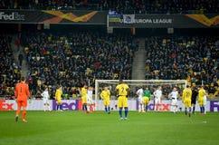 Kiev, UKRAINE - 14 mars 2019 : Joueur de football pendant la correspondance d'UEFA Europa League entre Dynamo Kiev contre Chelsea photos stock
