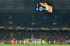 Kiev, UKRAINE - 14 mars 2019 : Joueur de football pendant la correspondance d'UEFA Europa League entre Dynamo Kiev contre Chelsea images stock