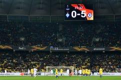 Kiev, UKRAINE - 14 mars 2019 : Joueur de football pendant la correspondance d'UEFA Europa League entre Dynamo Kiev contre Chelsea image stock