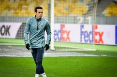 Kiev, UKRAINE - 14 mars 2019 : Joueur de Pedro Rodriguez pendant la correspondance d'UEFA Europa League entre Dynamo Kiev contre  photo stock