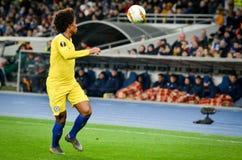 Kiev, UKRAINE - 14 mars 2019 : Joueur de Willian pendant la correspondance d'UEFA Europa League entre Dynamo Kiev contre Chelsea  photo libre de droits