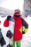 Tempête de neige à Kiev Photographie stock libre de droits