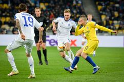 Kiev, UKRAINE - 14 mars 2019 : Mateo Kovacic pendant la correspondance d'UEFA Europa League entre Dynamo Kiev contre Chelsea (Lon photos libres de droits