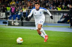 Kiev, UKRAINE - 14 mars 2019 : Sidcley pendant la correspondance d'UEFA Europa League entre Dynamo Kiev contre Chelsea (Londres,  image stock