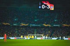 Kiev, UKRAINE - 14 mars 2019 : Vue générale sur le stade pendant la correspondance d'UEFA Europa League entre Dynamo Kiev contre  photo stock