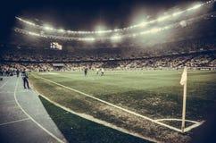 Kiev, UKRAINE - 14 mars 2019 : Vue g?n?rale du stade avec des projecteurs pendant la correspondance d'UEFA Europa League entre la photos stock