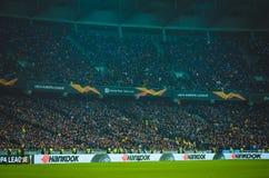 Kiev, UKRAINE - 14 mars 2019 : Vue g?n?rale sur le stade pendant la correspondance d'UEFA Europa League entre Dynamo Kiev contre  photos stock
