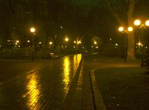 Kiev. Ukraine.Maryinskiy park. Night view. Royalty Free Stock Image