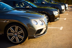 Kiev, Ukraine - 14 May 2014: Bentley Motorsport celebrates the opening of a new dealer center in Kiev Royalty Free Stock Photos