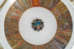 Kiev, Ukraine - May 09, 2015: Ceiling painting in the building o. F the Museum of Ukraine in the Second World War stock photography