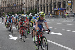 Kiev, Ukraine - May 28, 2016: Girls - participants cycling Race Stock Photo