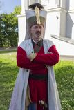 Kiev, Ukraine - May 09, 2018: Man in the form of a janissary royalty free stock image