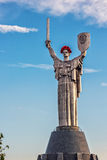 KIEV, UKRAINE - MAY 09: The Motherland Monument also known as Rodina-Mat', decorated with red poppy flower wreath on Victory Stock Photography