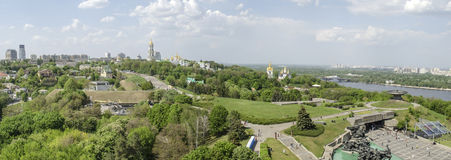 KIEV, UKRAINE - May 7, 2017: Panorama of the city overlooking the Kiev Pechersk Lavra stock photo