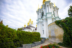 KIEV, UKRAINE - MAY 20:unidentified tourists are visiting  Pechersk Lavra - national historic-cultural sanctuary monastery and une Stock Photo