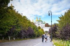 KIEV, UKRAINE - MAY 20:unidentified tourists are visiting  Pechersk Lavra - national historic-cultural sanctuary monastery and une Stock Photography