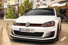 Kiev, Ukraine - May 3, 2019: Volkswagen Golf GTI parked in the city stock photo