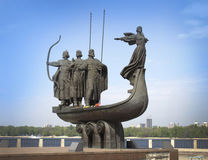 Kiev. Ukraine. Monument to the founders of Kiev. stock photography