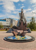 KIEV, Ukraine: monument  to victims of the accident at Chernobyl Stock Photos
