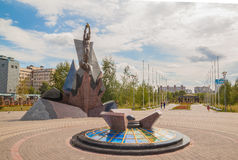 KIEV, Ukraine: monument  to victims of the accident at Chernobyl Royalty Free Stock Image