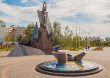 KIEV, Ukraine: monument  to victims of the accident at Chernobyl. KIEV, UKRAINE - AUGUST 26, 2014: Memorial to victims of the accident at Chernobyl, on Stock Image