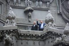 Petro Poroshenko and David Lynch Royalty Free Stock Images