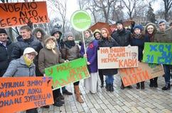 KIEV, UKRAINE - Nov 29, 2015: Ukrainians take a part in the Ukrainian Global Climate March. Ukrainians take a part in the Ukrainian Global Climate March,on the Stock Image