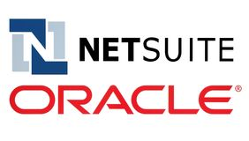 Netsuite and Oracle logos. Kiev, Ukraine - November 11, 2016: Netsuite and Oracle logos printed on white paper. Oracle Corporation is a multinational computer Stock Illustration