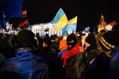 KIEV, UKRAINE - NOVEMBER 29: Pro-Europe protest in Kiev Stock Photo