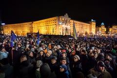 KIEV, UKRAINE - NOVEMBER 29: Pro-Europe protest in Kiev Stock Photos