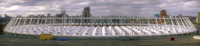 KIEV, UKRAINE - NOVEMBER 11, 2013: The roof of modern Olympic Na Royalty Free Stock Photos