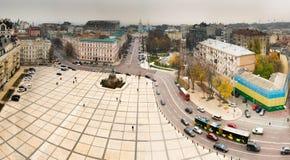 KIEV, UKRAINE - NOVEMBER 2015: Sophievskaya Square with historic monument of famous Ukrainian Hetman Bogdan Khmelnitsky. KIEV, UKRAINE - NOVEMBER 2015 Stock Photos