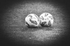 KIEV, UKRAINE - 29 novembre 2018 : Ballon de football officiel pendant la correspondance d'UEFA Europa League entre Vorskla Polta images stock