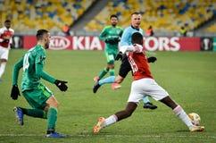 KIEV, UKRAINE - 29 novembre 2018 : Eddie Nketiah pendant la correspondance d'UEFA Europa League entre Vorskla Poltava contre l'ar images libres de droits