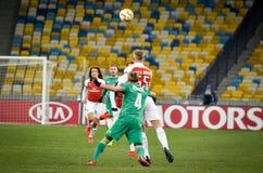 KIEV, UKRAINE - 29 novembre 2018 : Emile Smith Rowe pendant la correspondance d'UEFA Europa League entre Vorskla Poltava contre l images libres de droits