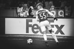 KIEV, UKRAINE - 29 novembre 2018 : Emile Smith Rowe pendant la correspondance d'UEFA Europa League entre Vorskla Poltava contre l image stock
