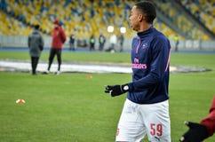 KIEV, UKRAINE - 29 novembre 2018 : Joe Willock pendant la correspondance d'UEFA Europa League entre Vorskla Poltava contre l'arse image stock