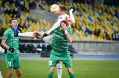 KIEV, UKRAINE - 29 novembre 2018 : Joueur de football pendant la correspondance d'UEFA Europa League entre Vorskla Poltava contre photos stock